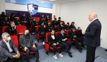 Başkan Sekmen'den Erzurumspor'a 'kefilim' ziyareti!