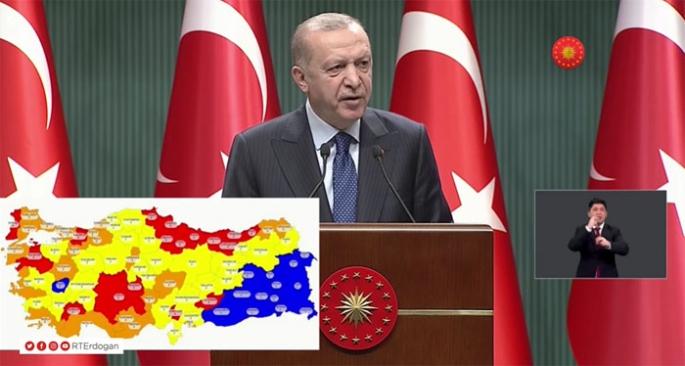 Cumhurbaşkanı Erdoğan açıkladı! Korona tedbirleri esnedi!