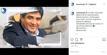 Erzurumspor İbrahim Erkal'ı unutmadı