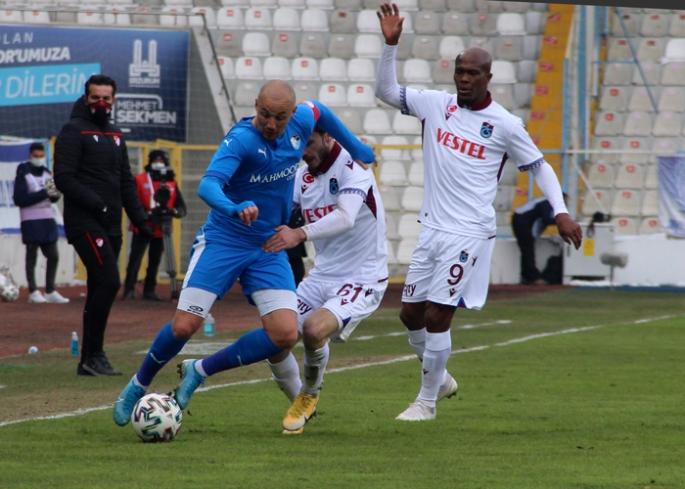 Erzurumspor-Trabzonspor maçı başladığı gibi bitti! 0-0