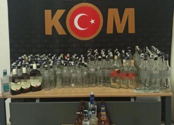 Erzurum'da kaçak içki operasyonu