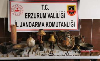 Erzurum'da tarihi eser kaçakçılık operasyonu