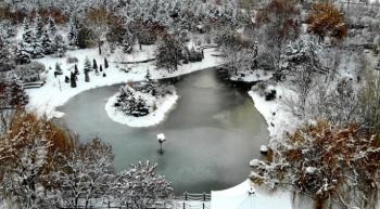 Erzurum'dan kar manzaraları