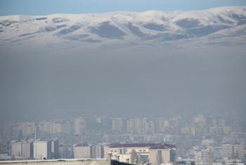 Erzurum'u yine kara bulutlar kapladı!
