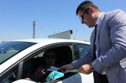 Vali Memiş, trafikte bayram denetimine çıktı