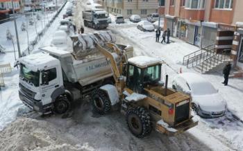 Yakutiye Belediyesi'nden 7/24 kar alarmı