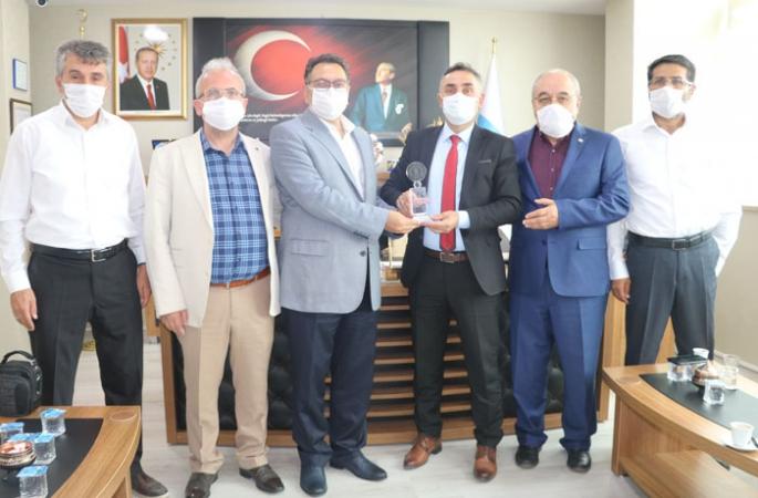 Muhasebeciler Odası'ndan  Erzurum İŞKUR'a teşekkür plaketi