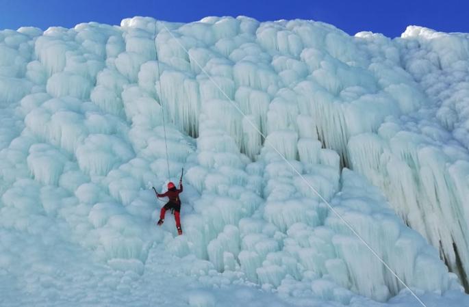 Türkiye'nin tek yapay buz dağı dağcıların gözdesi oldu