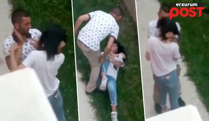 Genç kızın boğazını sıkıp, tekme tokat darp etti