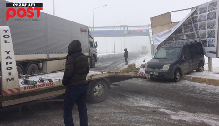 Erzurum'da kaza: 1 ölü, 2 yaralı