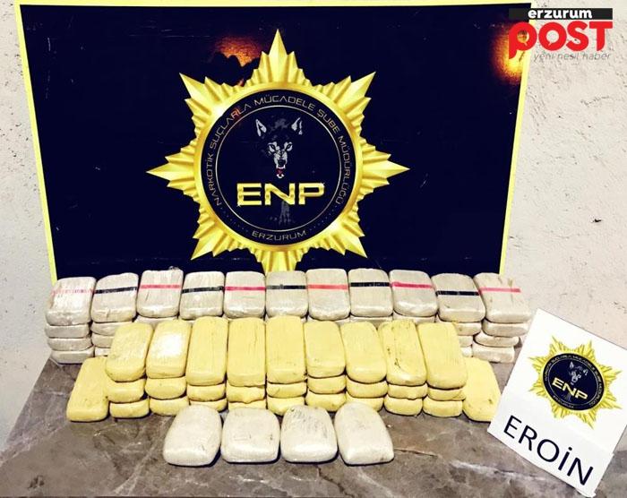 Bavul içerisinde  39 kilo 351 gram eroin yakalandı