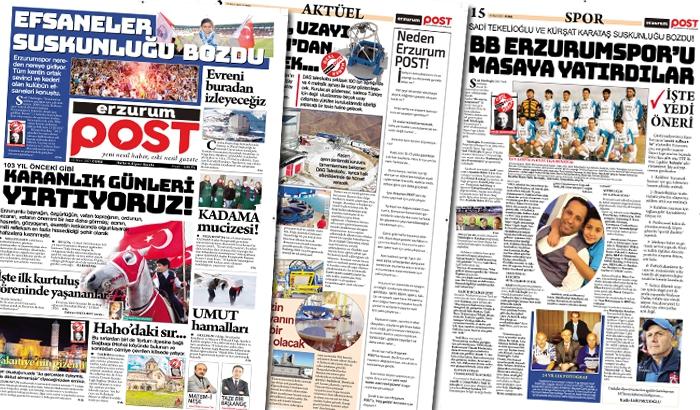 Erzurum POST Gazetesi yayında!