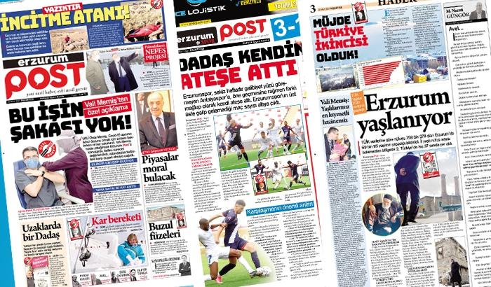 Erzurum Post yeni sayı... İşte e-gazete!