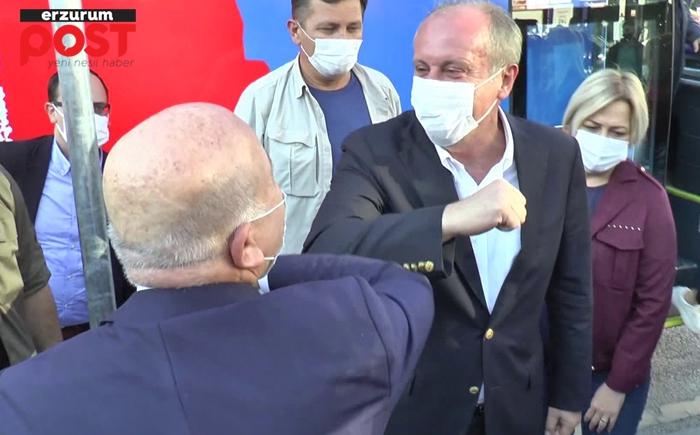 AK Partili Sekmen ile CHP'li İnce'nin Erzurum'da dirsek teması!