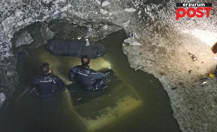 otomobil buz tutan nehre uçtu: 1 ölü