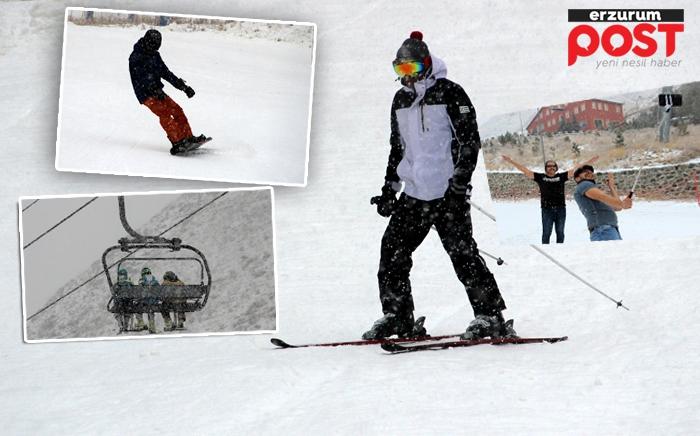 Palandöken'de kayak keyfi başladı!